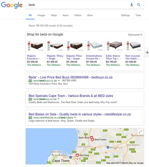 Google搜索结果广告
